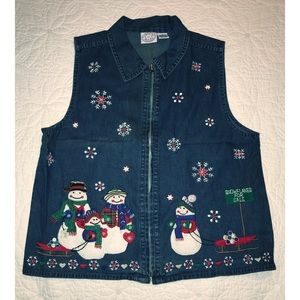 Denim Christmas Vest